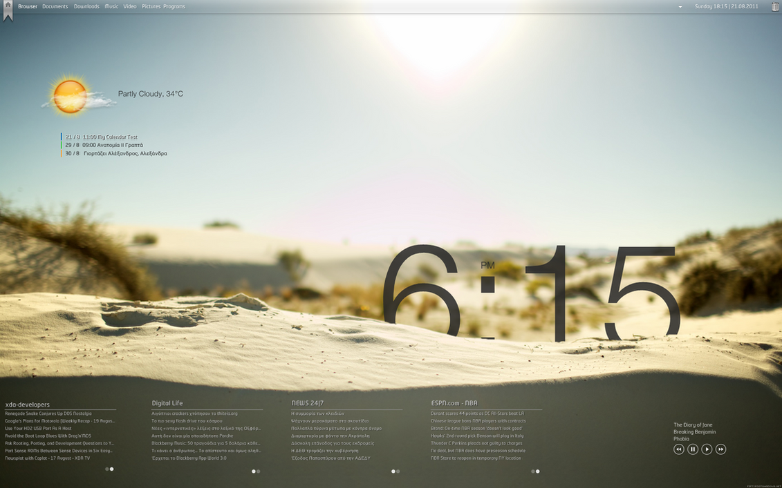 Sun + Sand - RainMeter Desktop by KreDoc
