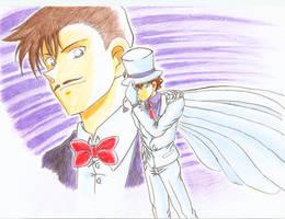 Kaito Kid and Kuroba Toichi  by MeiTanteixX
