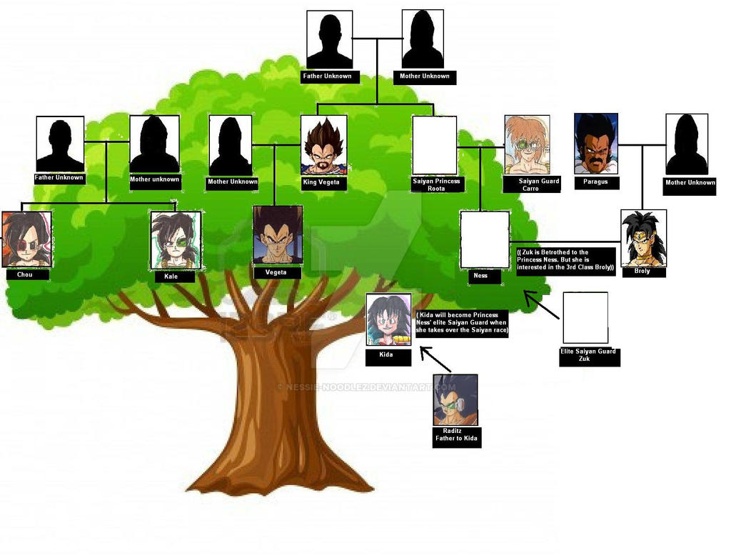 family tree evil saiyan ness story timeline by nessie noodlez