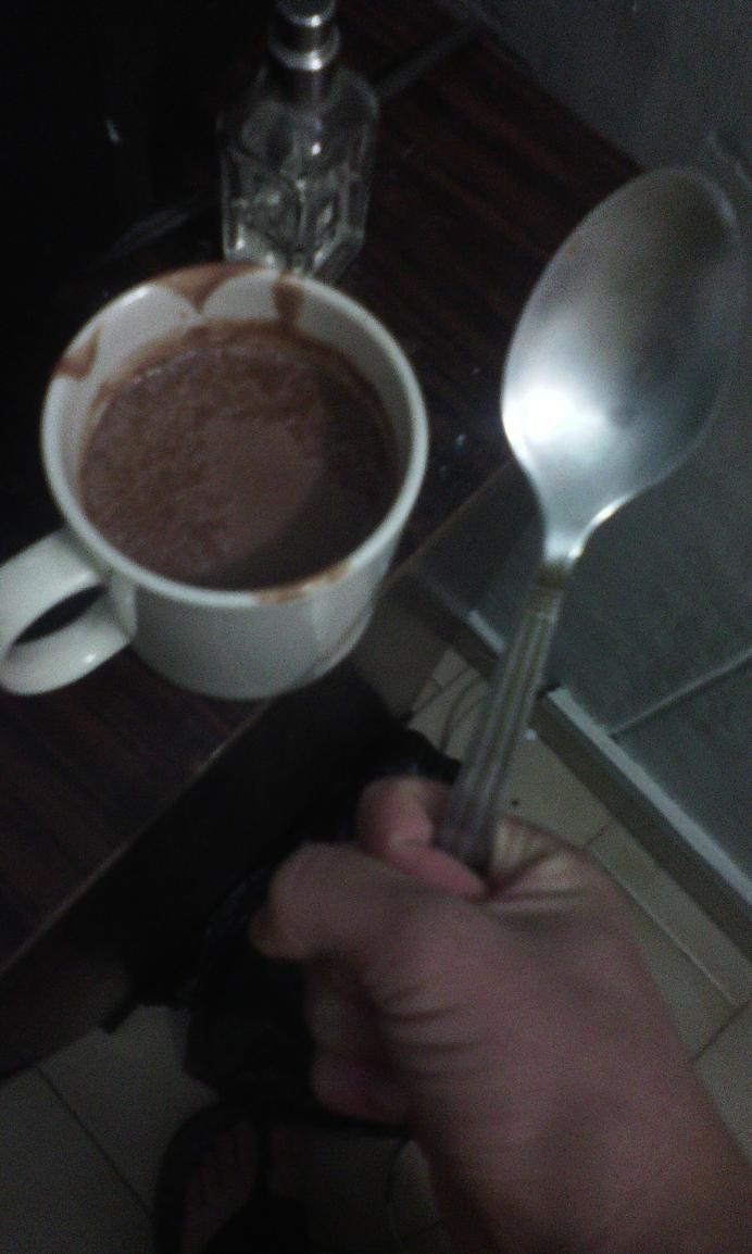 selfie de mi chocolate caliente by rayotenpera