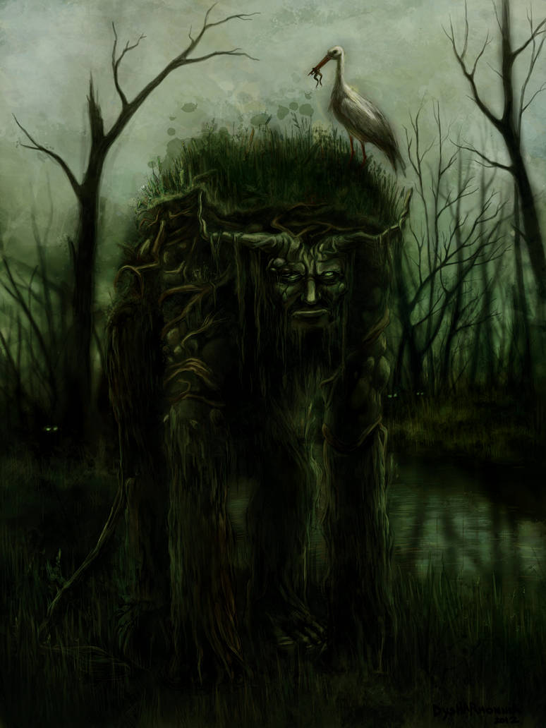Latvian Mythology - Swamp devil by Dysharmonnia