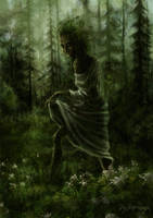 Latvian Mythology - Daughter of the forest by Dysharmonnia