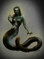 Latvian mythology - Varava (first idea) by Dysharmonnia
