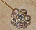 Steampunk Gear Pendant Necklace by MarilynFaye