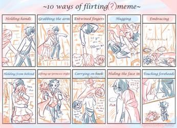 10 Ways Of Flirting(?) Meme by CuteNikeChan