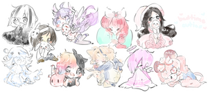 Bedtime Cuties Sketch Batch 4 by CuteNikeChan
