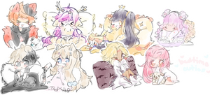 Bedtime Cuties Sketch Batch 5 by CuteNikeChan