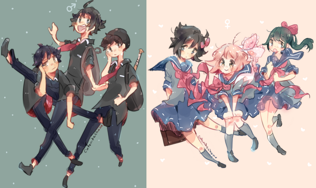 Middle School Years by CuteNikeChan