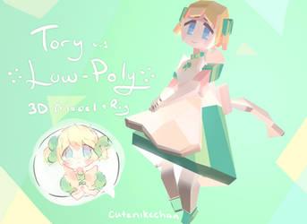 Tory Low Poly 3D Model by CuteNikeChan