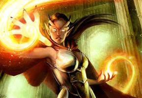Children of Wyrms: Sorceress by lorraine-schleter