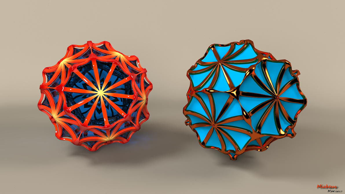 Dodecahedron Flower by Micheuss