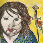 Aragorn and his sword by sophiexxth
