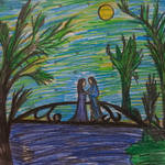 Aragorn and Arwen in Rivendell by sophiexxth