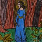 Arwen Undomiel in the forest by sophiexxth