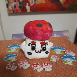 Mushroom DIY Clay