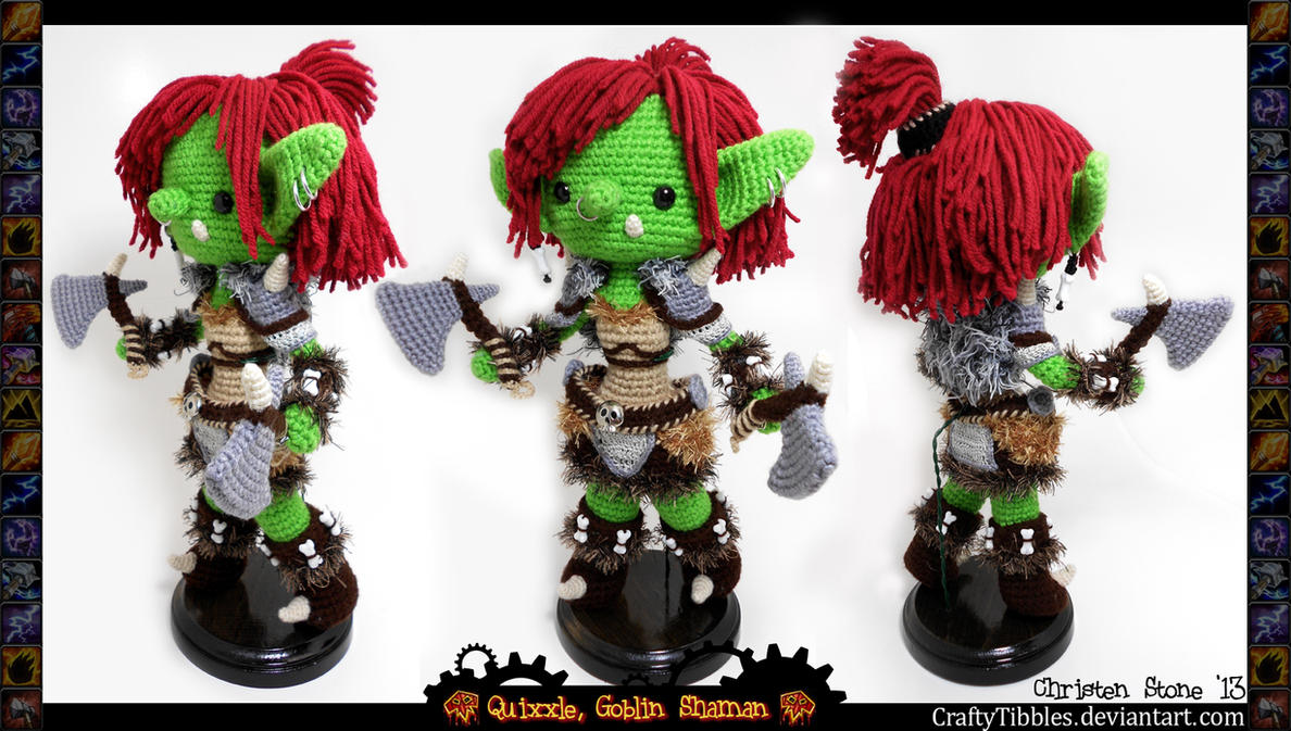 Quixxle, Goblin Shaman by CraftyTibbles