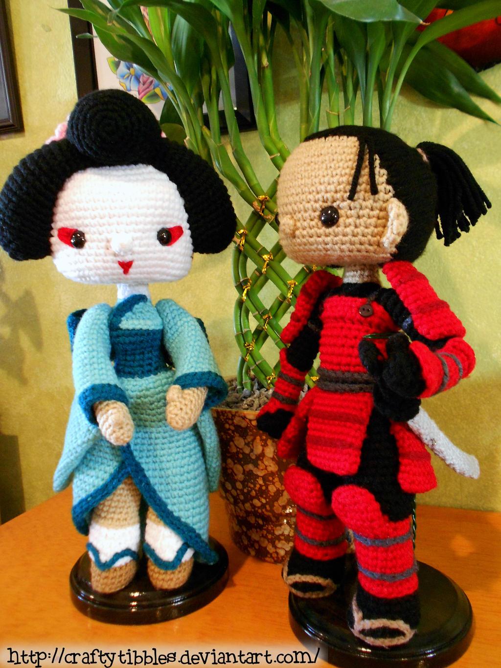 Geisha and Samurai by CraftyTibbles