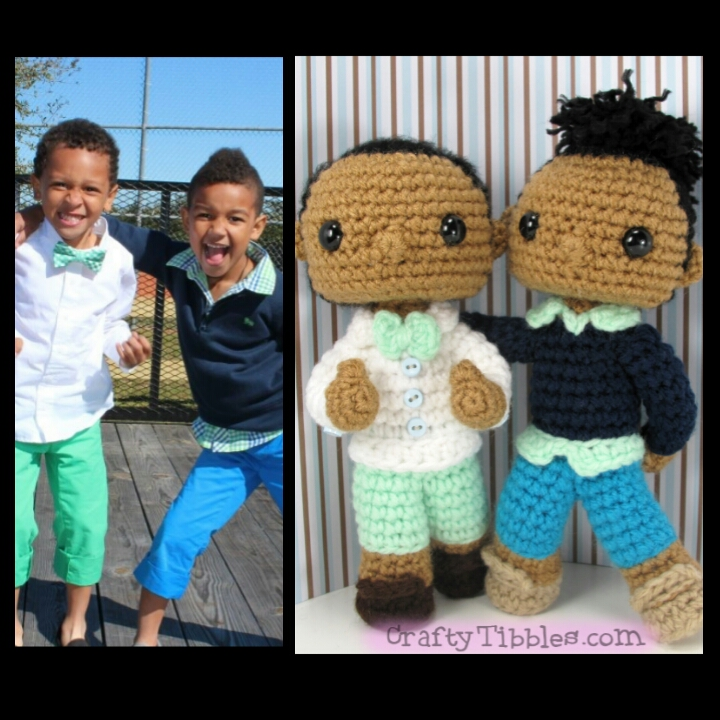 Custom Crochet - Jessica's sons by CraftyTibbles