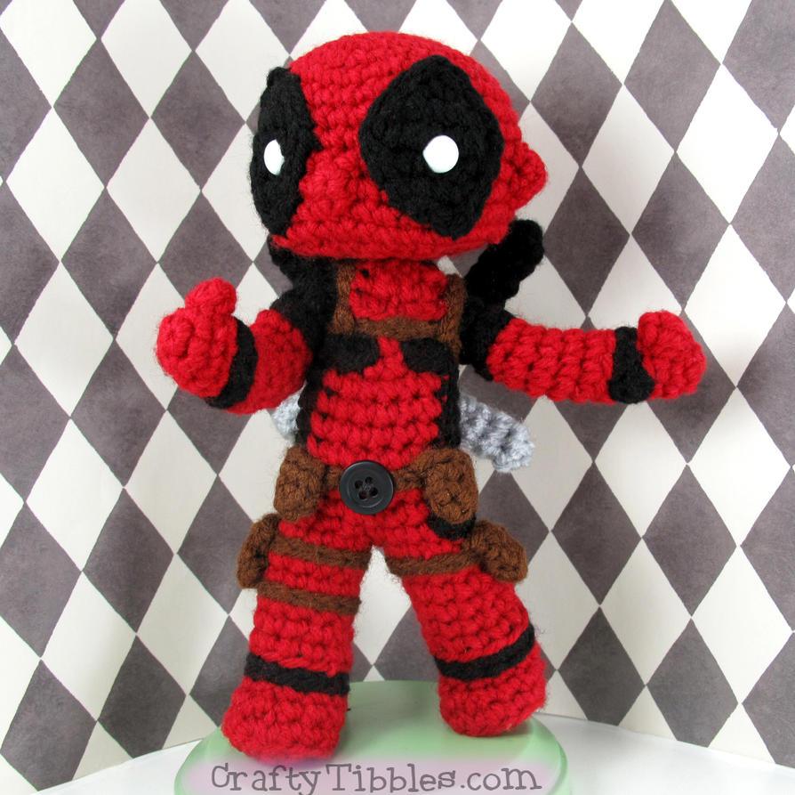 Crochet Wedding Dress Pattern Doll : Custom Crochet - Deadpool by CraftyTibbles on DeviantArt