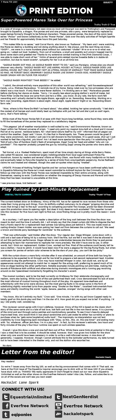EQI Print Issue #93 by HackalotSpark