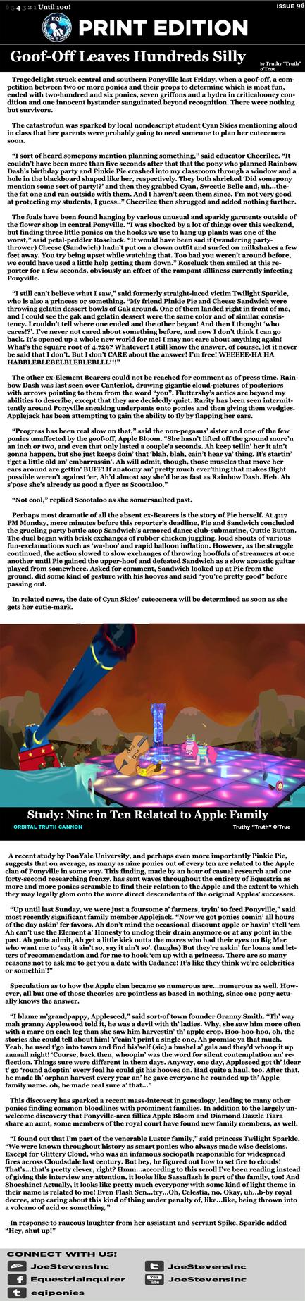 EQI Print Issue #96 by HackalotSpark
