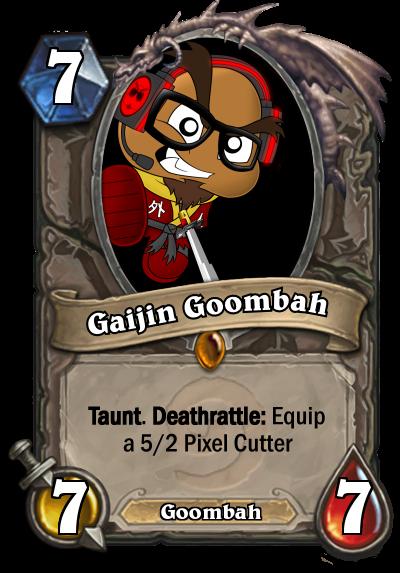 Youtuber Hearthstone Cards: Gaijin Goombah by HackalotSpark