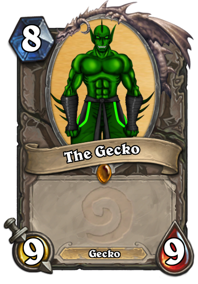 Youtuber Hearthstone Cards: The Gecko by HackalotSpark