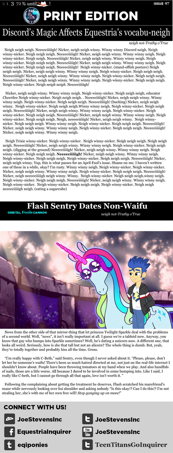 Equestria Inquirer Print Issue #97 by HackalotSpark