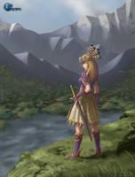 Goddess over Midgar by ziwu