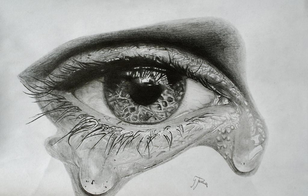 sad eyes with tears drawing 38639 movieweb