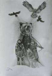 The roar of Lindorn by gj-drawer