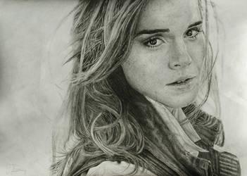 Emma Watson grafite portrait by gj-drawer