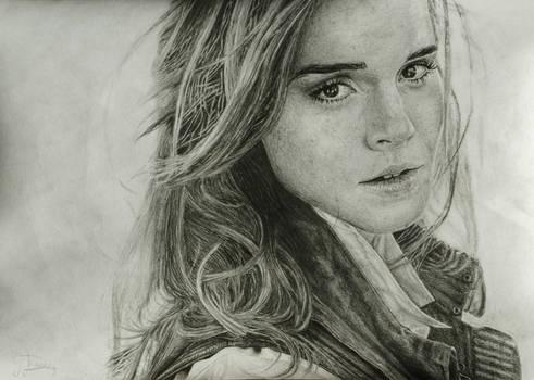 Emma Watson grafite portrait