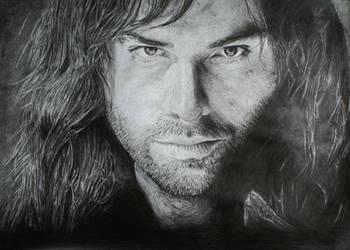 Aiden Turner  portrait (Kili from The Hobbit) by gj-drawer