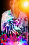 Seany - Galaxy - Double Exposure - PicsArt Studio