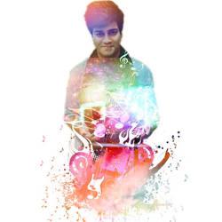 PicsArt - Hanu Dixit - Musician Portait  - Notes