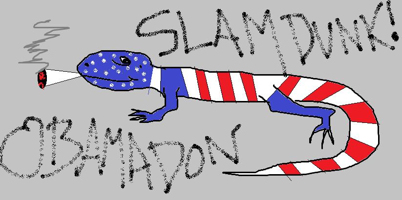 Obamadon by mojoceratops