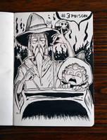 Inktober! Day 3: Poison by KayDaKay