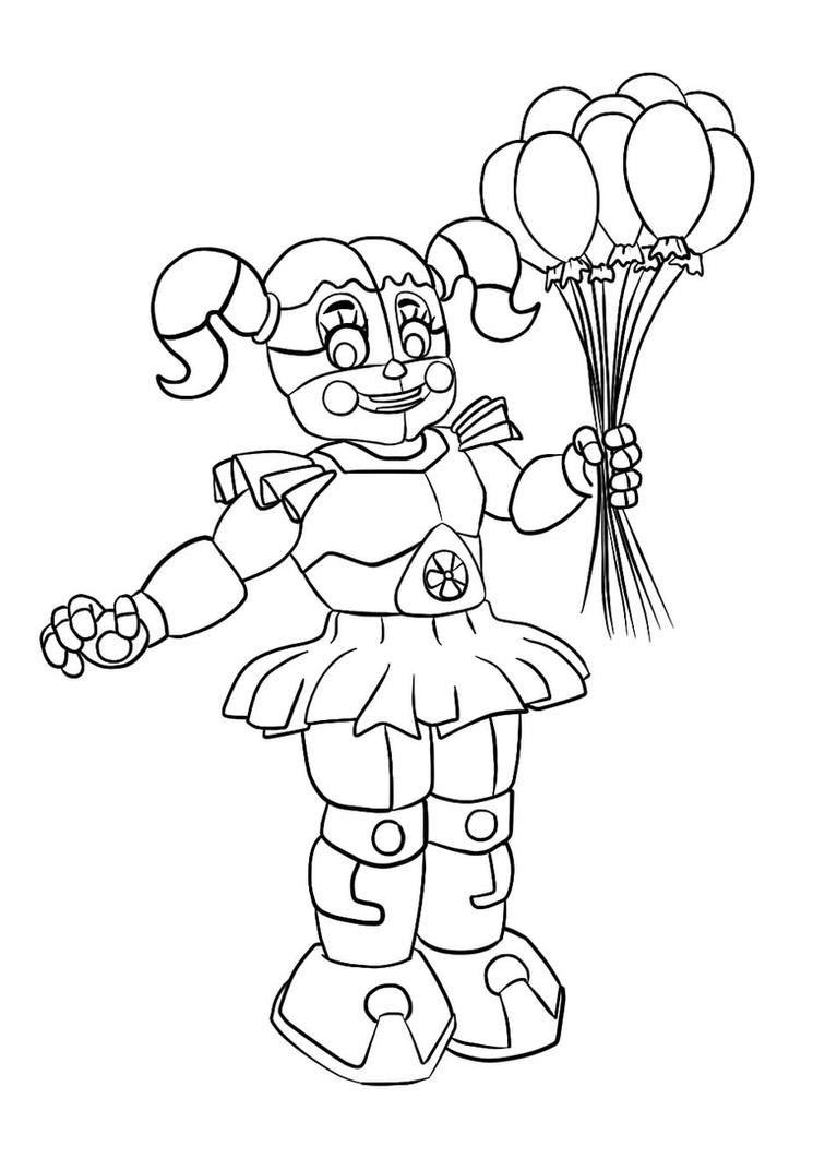 Fnaf Circus Baby Free Coloring Pages