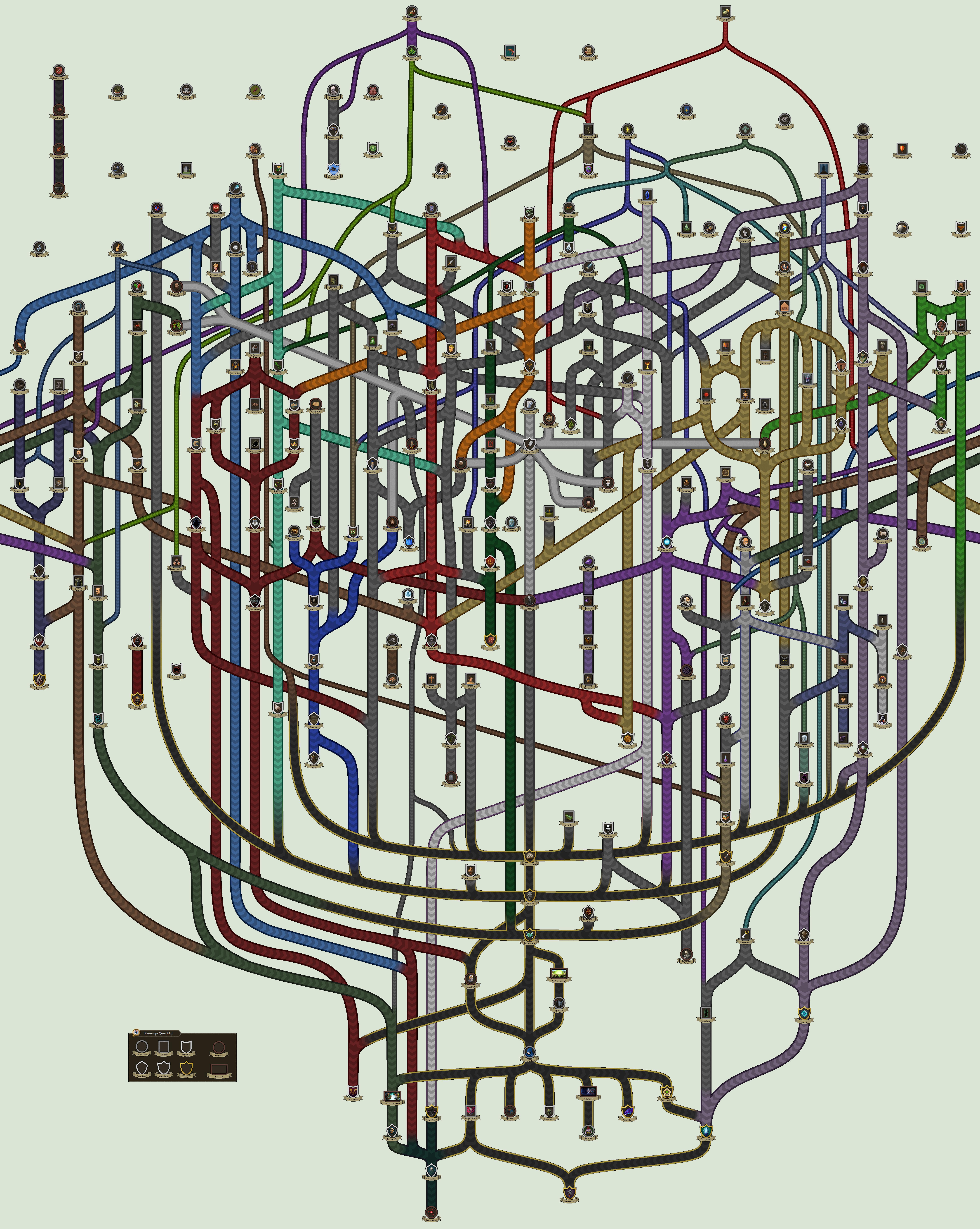 Runescape Quest Map by gamez-x on DeviantArt