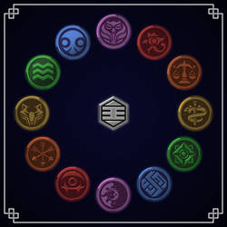 Dragon Ball Super Universe Emblems by gamez-x