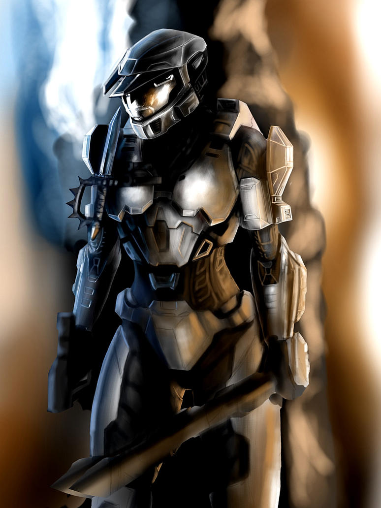 HALO Female Color practice by jose144