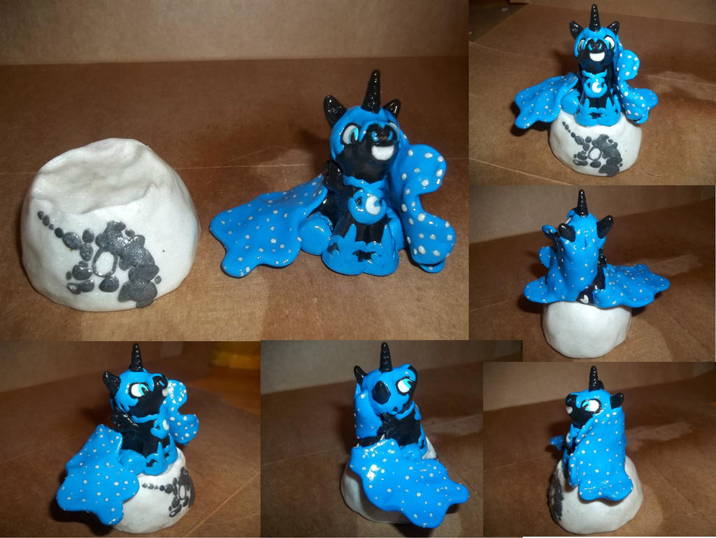Nightmare Moon Clay Sculpt by Conmankez