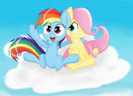 Filly Rainbow Dash and Filly Fluttershy