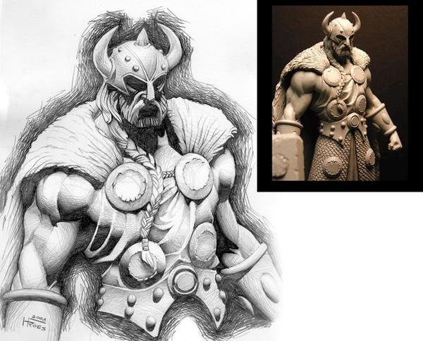 Thor Practice Sketch by ginmau