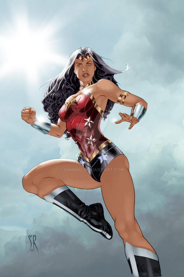Wonder Woman (New 52) colored by ginmau