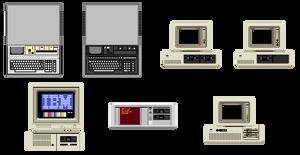 Pixel Vintage IBM Computers