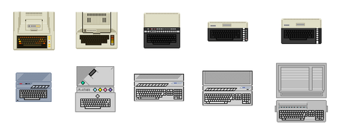 Atari Computers pixel - zoomed