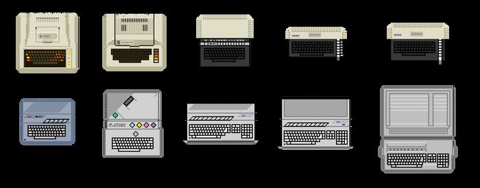 Atari Computers pixel - zoomed