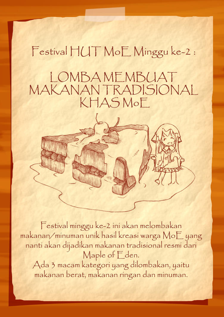 MoE Undangan - Festival Makanan Tradisional by n3kozuki